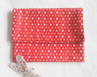 Red wallet or pouch