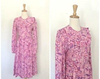 Vintage Lilly Pulitzer Dress - summer dress - pink cotton dress - sundress - M L