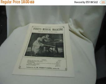 Ephemera & Books 50% Sale Vintage 1930 Perry's Musical Magazine Sheet Music, July, no 4, collectable