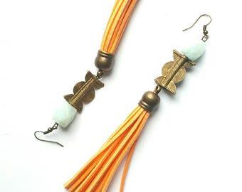 Statement tassel earrings//boho chic tassel earrings//gemstone earrings- African statement earrings//bohemian jewelry// The Afrobohemme
