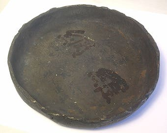 An Antique Chinese Bronze Foundry Advertising Bronze Ashtray Bowl Z26