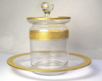 A Heisey Glass Jam Jar A8