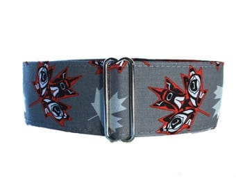 Maple Leaf Martingale Collar, Canada Day Martingale Collar, Canadian Flag Martingale Collar, Canada Day Dog Collar, Maple Leaf Dog Collar