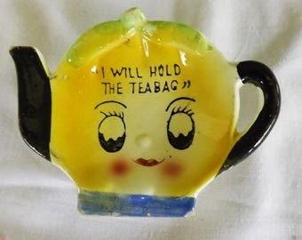 Vintage Porcelain Tea Bag Holder