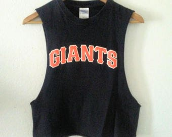 Giants TShirt / San Francisco / Baseball TShirt / MLB / Crop Top / Half Tee / Muscle Tee / Long Armholes / Graphic / Indie / Grunge / Rocker