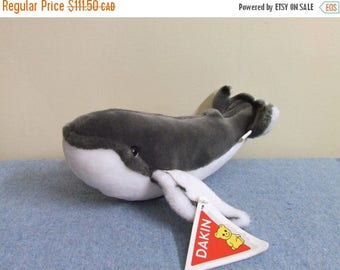 CLEARANCE RARE 1985 Dakin Homphrey the Whale Plush Collectible with Tag Stuffed Animal Ocean