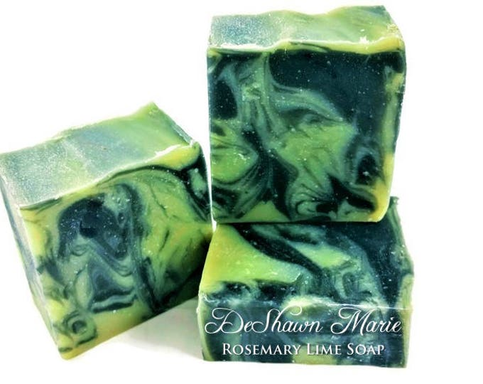 3 lb. Rosemary Lime Activated Charcoal Soap Loaf