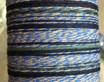 "Saori ready made luxury ""Blueberry"" cashmere warp 200 threads x 6m"