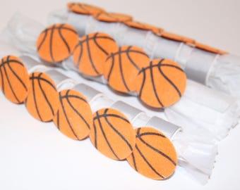 Basketball Felt Napkin Rings Set of 14