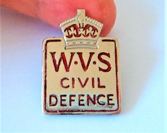 WWII Women's Voluntary Service Badge... WVS Civil Defense
