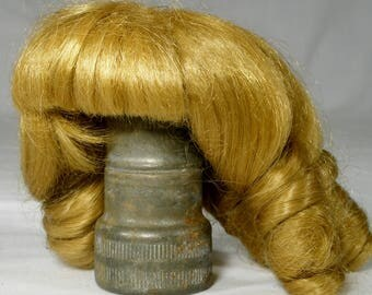 Vintage Doll Wig Blonde doll accessories curls   b