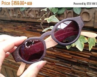 20% off SUMMER SALE unique wenger wood  1960's handmade prescription sunglasses eyeglasses from TAKEMOTO