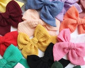 You choose color GAUZE Small or Medium CHUNKY |Abby Bow| clip or headband