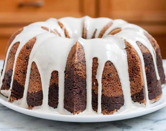 Vanilla and Chocolate Marbled Bundt Cake