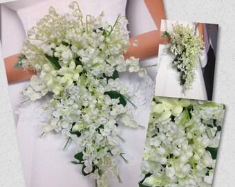 Custom Princess Kate's Wedding Bouquet, Lily of the Valley Bouquet, Lily of the Valley Nosegay, Lily of the Valley Boutonnieres