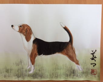 Chinese Painting-A Dog