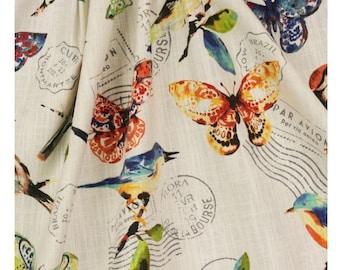 Bird Tablecloth   Butterfly Decor   Round   Overlay   Farmhouse Tablecloth    Country Farm Tablecloth