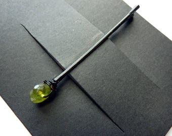 Vessonite Stone  Bobby Pin - 8mm - Gemstone Bobby Pin