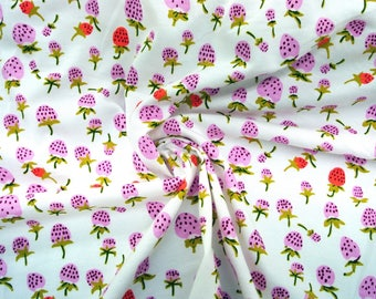 KNIT fabric Heather Ross Briar Rose berries lilac or orange One Yard or more OOP HTF