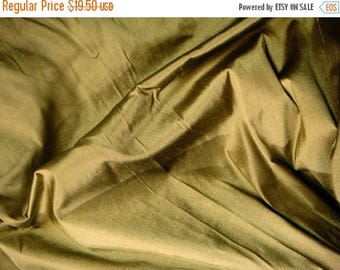 CIJ SALE Silk Dupioni Fabric - antique bronze 100% pure silk - 1 yard - sld154