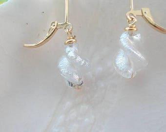 Petite Murano Twist Leverback  Earrings