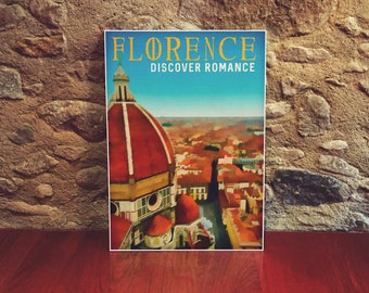 Italy 12x18 Poster Art Print Florence Cathedral City Wall Art Colorful Art Poster European Travel Poster