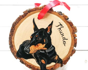 Personalized Pet Ornament - Custom Dog Ornament - Pet Portrait Ornament - Cat Ornament - Pet Memorial Ornament - Pet Loss Gift- Pet Portrait