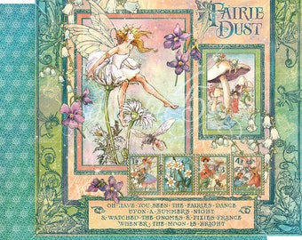 Graphic 45 Fairie Dust Signature Sheet, set of 2 sheets 12x12 double sided