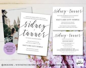 Unique Wedding Invitation, Printable Wedding Invitation, Elegant Wedding Invitations, Simple Wedding Invitation, Modern, Calligraphy