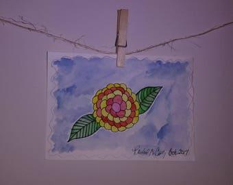 Flower Watercolor Illustration