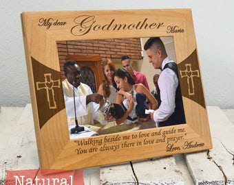 Godmother Frame - Personalized Godmother Gifts - Godmother Picture Frame From Godchild Engraved-Color Choice