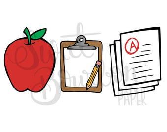 Teacher Sampler // Hand-Drawn Planner Stickers