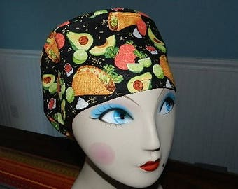 Awesome Tacos  European Style  Surgical Scrub Cap with Toggle