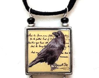 Edgar Allen Poe Raven Pendant