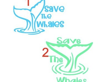 Save the Whales Vinyl Decal Sticker