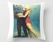 Scuba Diver Pillow Cover, Beach Throw Pillow, Coastal Gifts, Summer Pillows Scuba Pillow, Coastal Pillow Cute Beach Pillows Beach Home Decor