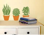 Classroom Decor Succulent Plants Wall Decals: No Care Succulents Bring a Touch of Nature to School
