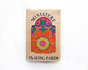 Hoyle Miniature Playing Card Deck, Psychedelic Flowers