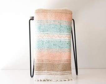 Vintage Blush + Mint Mexican Blanket Serape