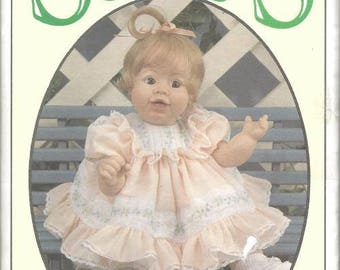 """1990s Doll Clothes Pattern Syndee by Syndee's Crafts 21"""" 16"""" 10"""" FF Uncut Doll Clothes Vintage Doll Clothes Sewing Pattern"""