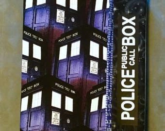 Doctor Who Police Box TARDIS Print Quilted Refillable Journal Notebook