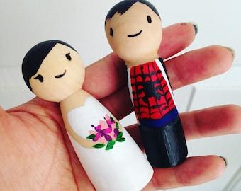 Custom Bride & Groom Cake Toppers
