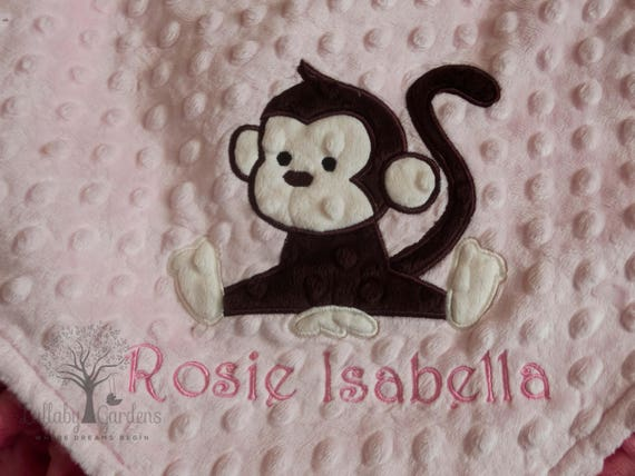 Personalized baby gifts monkey minky baby blanket baby girl personalized baby gifts monkey minky baby blanket baby girl gift baby girl blanket personalized minky baby blanket custom baby blankets negle Image collections