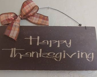 Happy Thanksgiving Sign~ Wooden Sign ~ Wooden Thanksgiving Sign