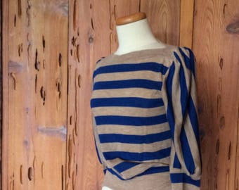 Vintage 80's striped Knit Tee Shirt