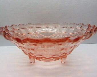 Vintage Pink Fostoria  Footed Serving  Bowl