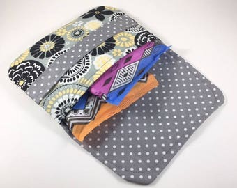 Sanitary Pad Holder Tampon Case Gray Black Yellow Floral
