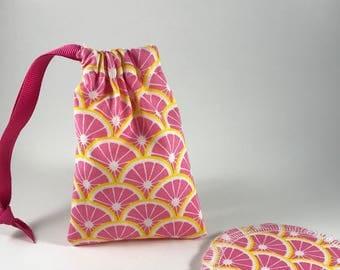 Menstrual Cup Bag, Menstrual Cup Pouch, Menstrual Cup Holder Pink Lemonade