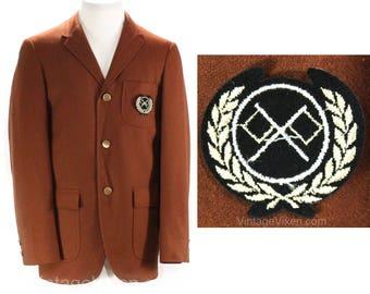 Teen Boys Size 16 Suit Jacket - 1960s Brown Wool Sport Coat - Boy's 16 18 - Collegiate Preppie Fall 60s NOS Deadstock - Chest 35.5 - 50229