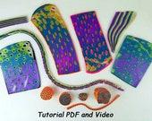 Polymer Clay Tutorial. Mokume Gane Tutorial + 10 Other Polymer Clay Patterns.  Includes PDF & Video Tutorial to Make a DIY Mokume Gane Cane.
